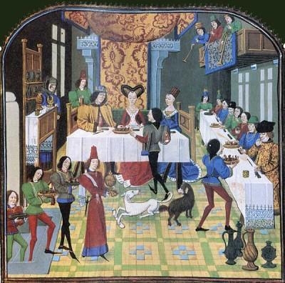 banquet au moyen âge