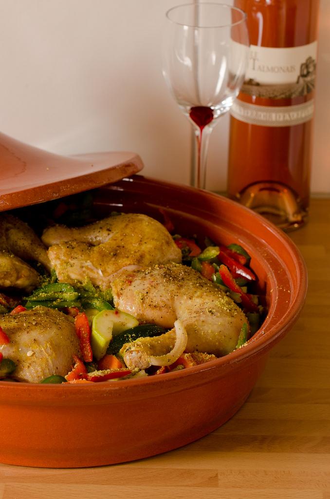 tajine de poulet et légumes
