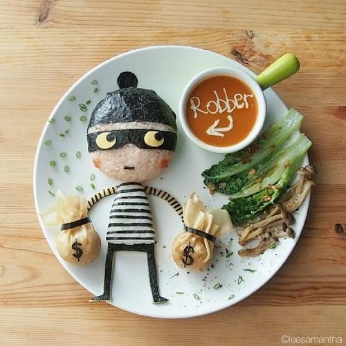 assiette voleur
