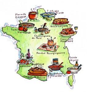 Petit cliché des spécialités par région