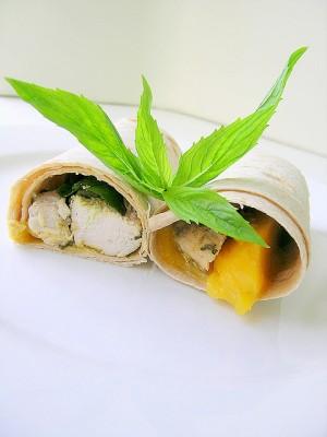 délicieux wrap mangues et poulet
