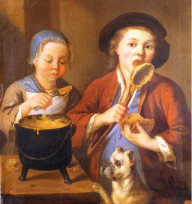 mangeurs de gaude peinture