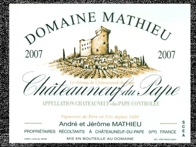 Chateauneuf du Pape cuvée 2007
