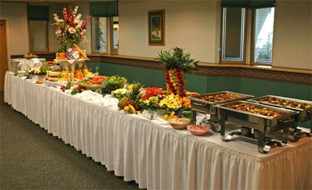 buffet d'un mariage
