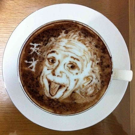 einstein-latte-art
