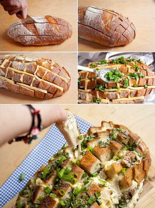fromage dans un pain pour l'apéritif