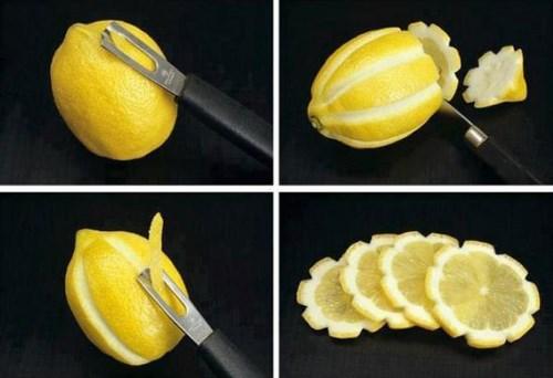 décoration d'un citron