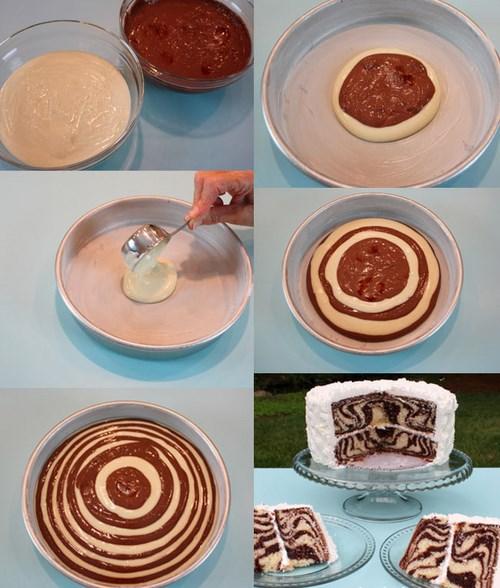 spirale chocolat pour un gateau